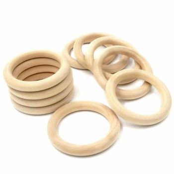 70mm   beech wood  rings co-ordinate with peg dolls teething ring